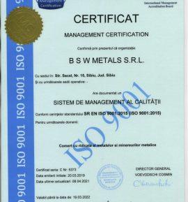 B S W METALS 9001